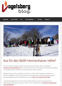 Viel Hintergrundinfos zum Skilift, zu Herchenhain und zur Vogelschmiede