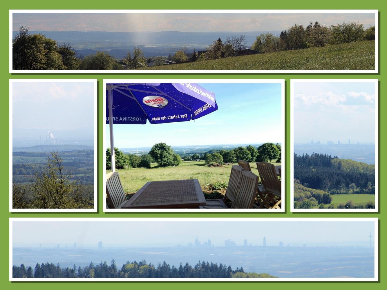 Unschlagbarer Fernblick von unserem Gastraum oder unserer Terrasse können Sie Ihre Blicke in die Ferne schweifen lassen