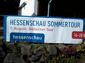 Hessenschau Sommertour am 9.8.17 am Gederner See