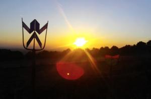 Sonnenuntergang Vogelsberg